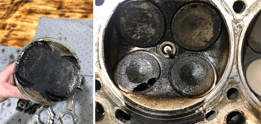 burnt pistons mitsubishi evo 8 sla