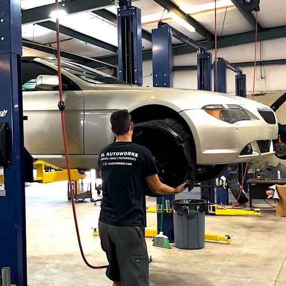 BMW wheel remove brake check