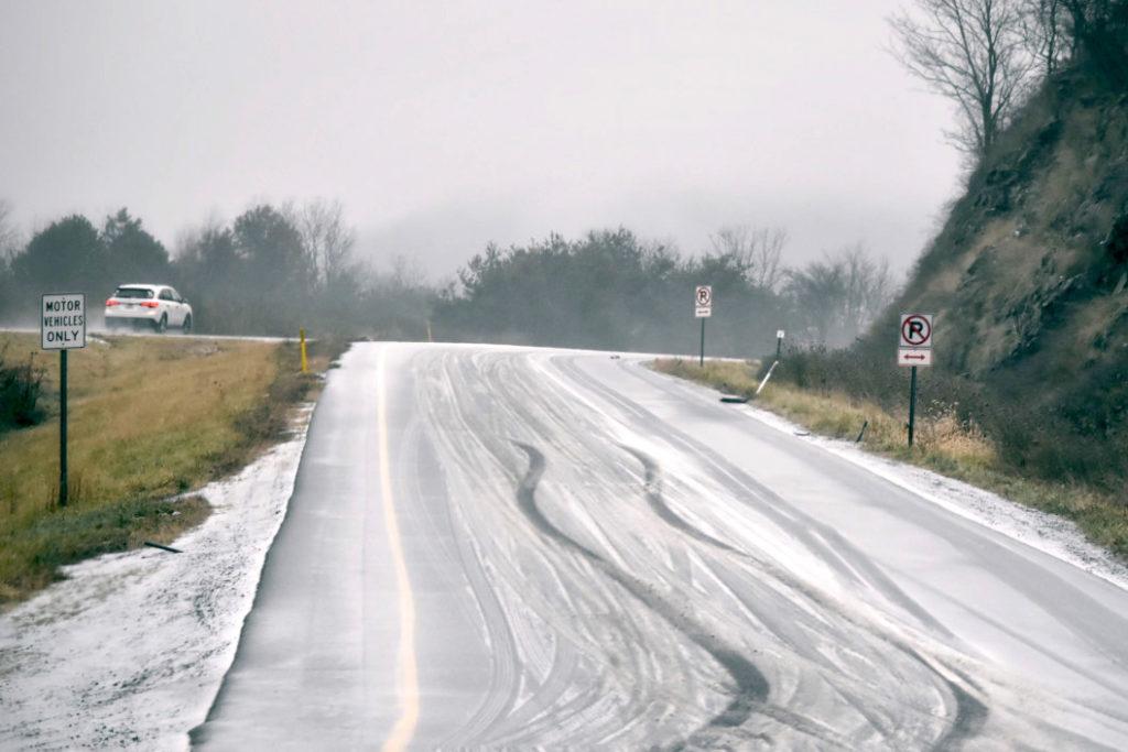 Arkansas winter road