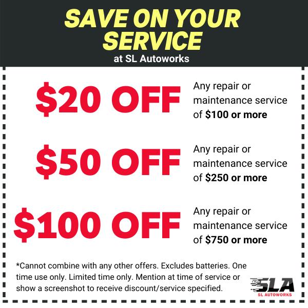 SL Autoworks coupon