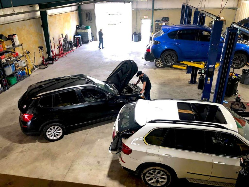 cars in shop at SL Autoworks