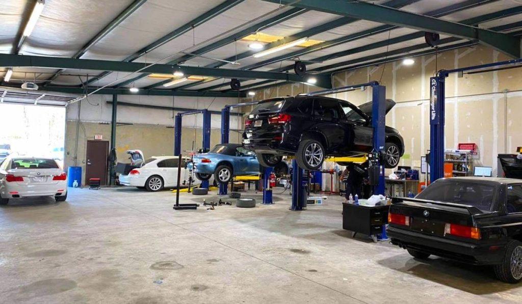 inside mechanic shop SL Autoworks