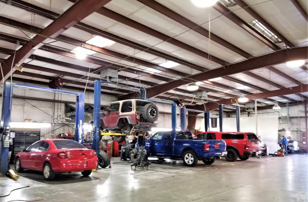 inside mechanic shop